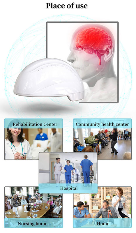 256pcs LED 810 Nm Brain Photobiomodulation Machine For Cerebral Dementia Therapy